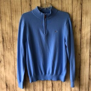 Women's Vineyard Vines Blue 1/4 Zip LS Pullover